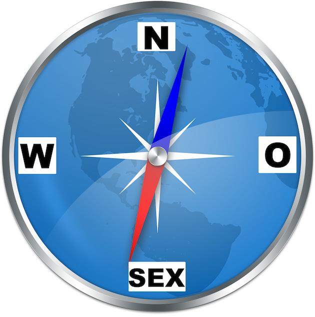 Het kompas naar discrete seks